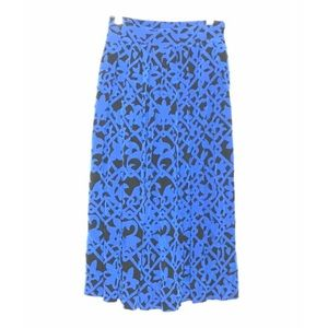 Christian Dior Royal Blue Patterned Midi Skirt